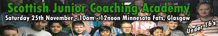 Scottish Junior Coaching Academy Minnesota Fats Glasgow - Saturday 25th November 2017