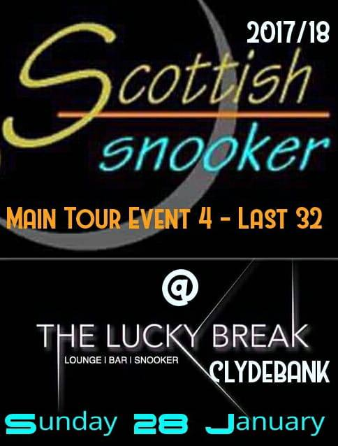 Main Tour Event 4 - Last 32 - Lucky Break - Clydebank