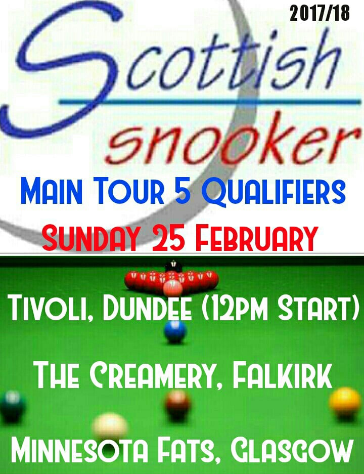 Scottish Snooker Main Tour 5 Qualifiers 2018