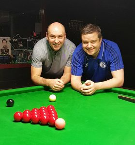 Masters Tour Event 4 Finalists Michael Philbin and Gary Thomson