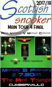 Main Tour Event 4 Final - Ross Vallance v Michael Collumb