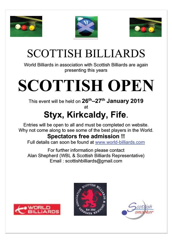 scottish open snooker 2019